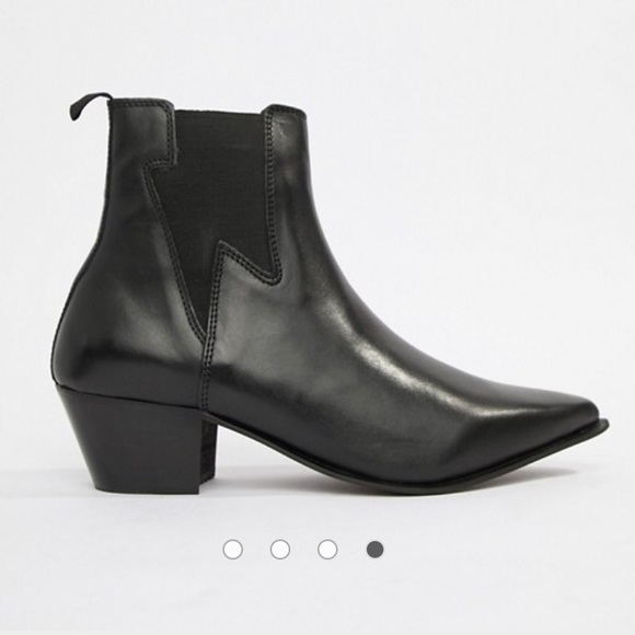 ff6e595a8222 ASOS stacked heel leather with lightning detail